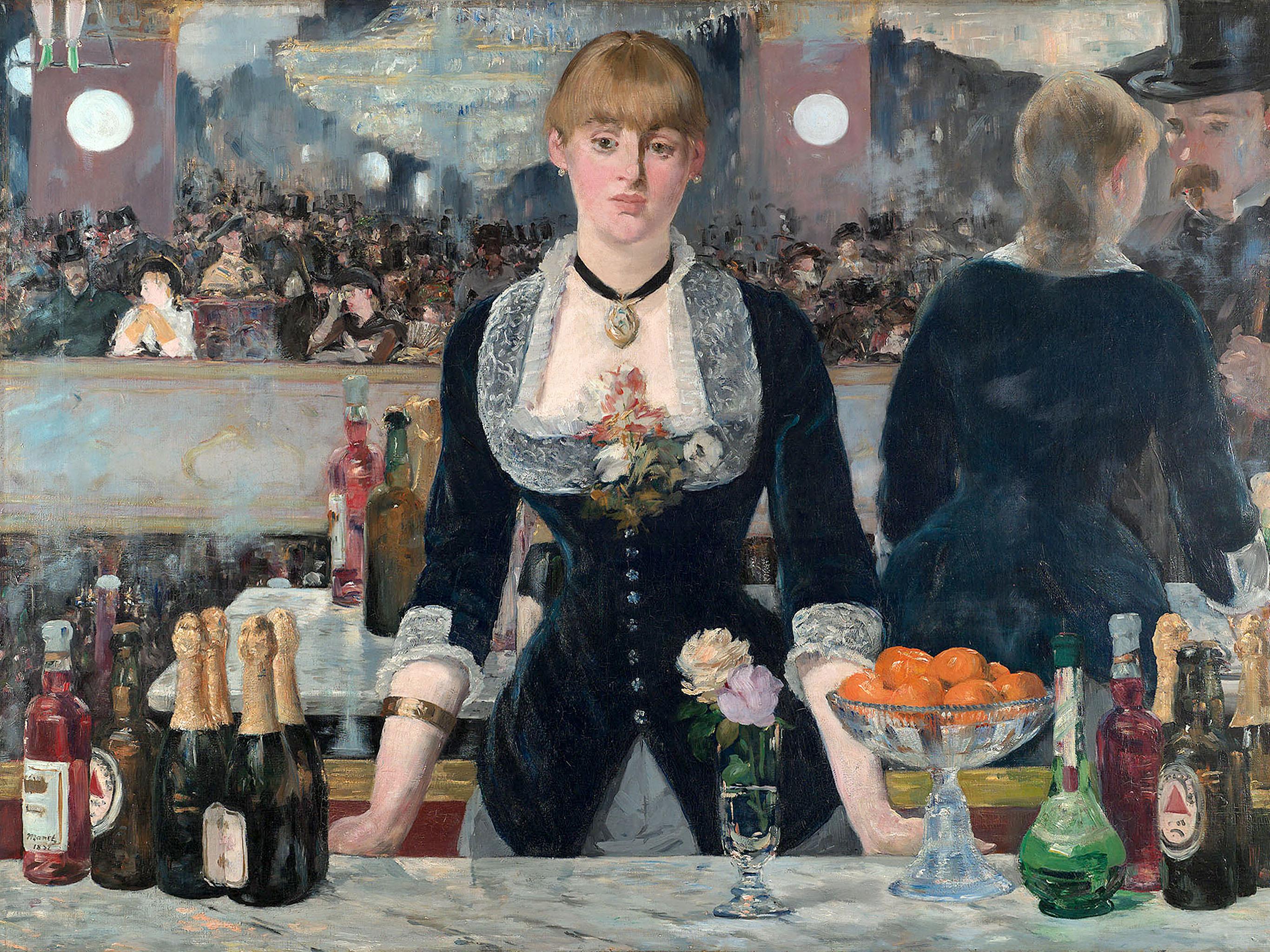 エドゥアール・マネ フォリー・ベルジェールのバー Edouard Manet - A Bar at the Folies Bergère 2732x2048