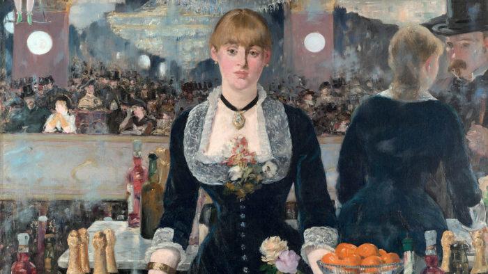 エドゥアール・マネ フォリー・ベルジェールのバー Edouard Manet - A Bar at the Folies Bergère 1920x1080