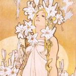 アルフォンス・ミュシャ / 四つの花 ユリ