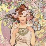 アルフォンス・ミュシャ / 四つの花 バラ