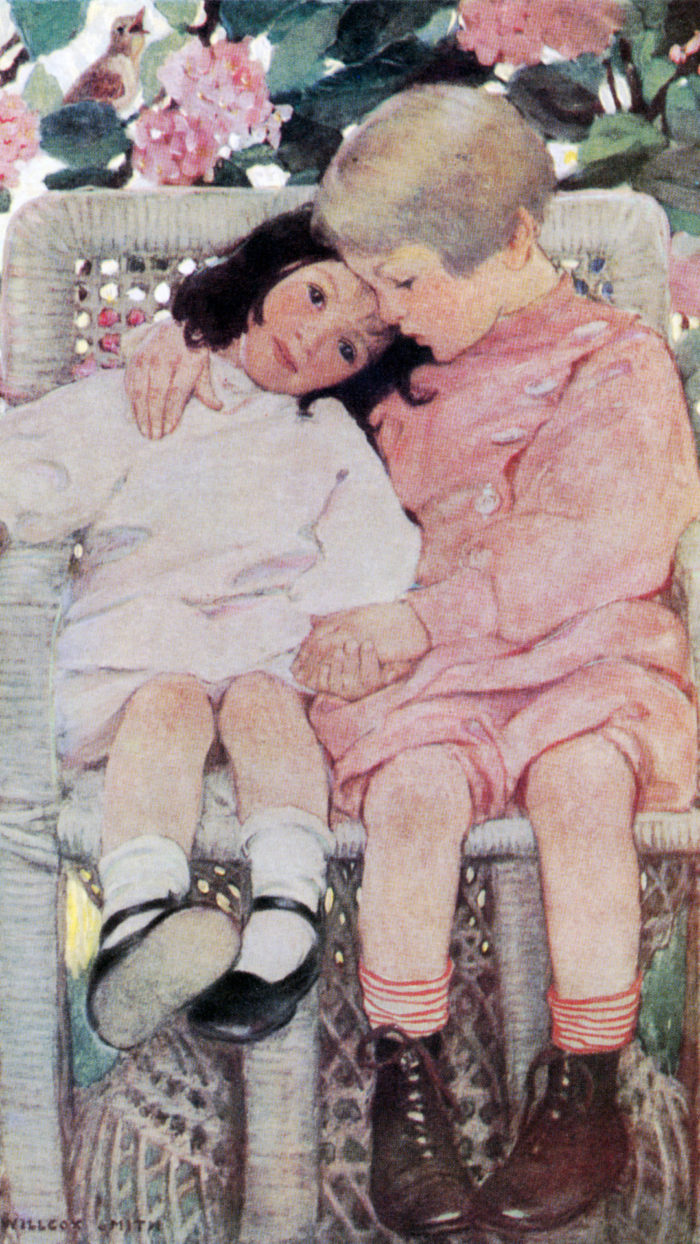 ジェシー・ウィルコックス・スミス Jessie Willcox Smith - Brothers and Sisters 1080x1920