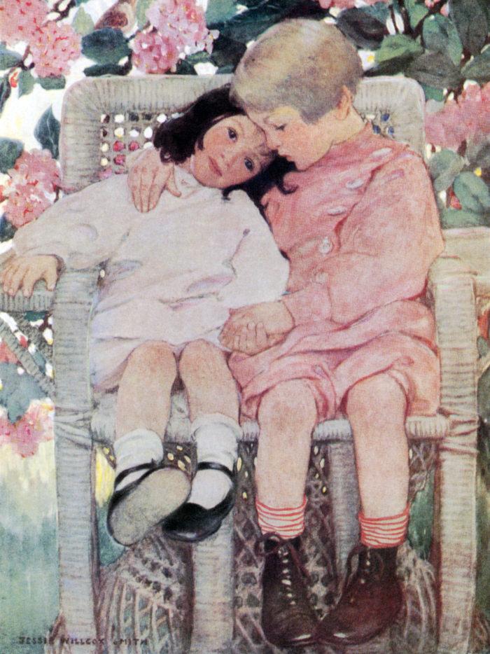 ジェシー・ウィルコックス・スミス Jessie Willcox Smith - Brothers and Sisters 2048x2732