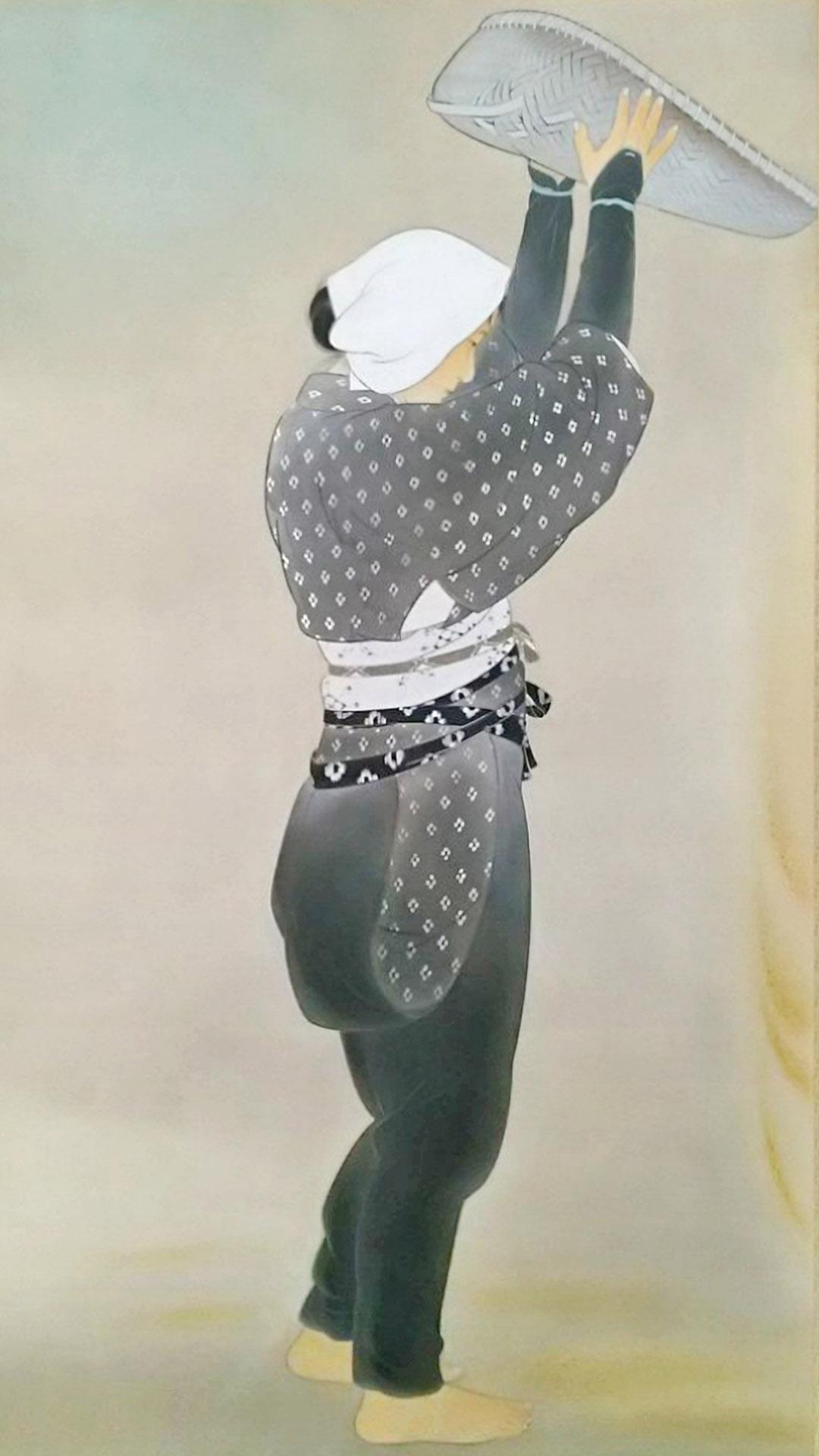 菊池契月 麦挋 Kikuchi Keigetsu - Mugi furui 1080x1920