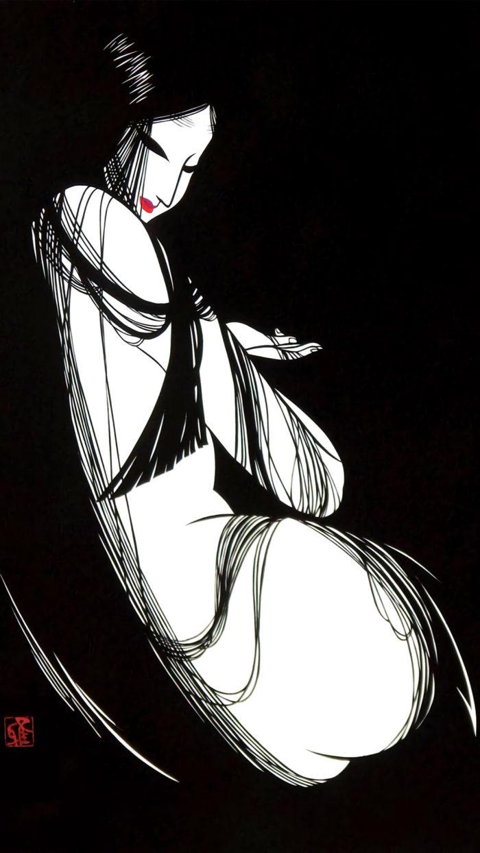 宮田雅之 中世黒髪 Miyata Masayuki - Chusei kurokami 1080x1920