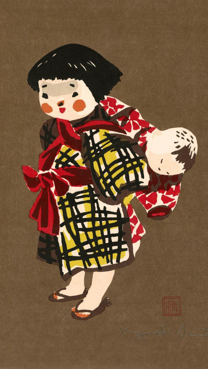 斎藤清 会津の子供 Saito Kiyoshi - Aizu no kodomo 1080x1920