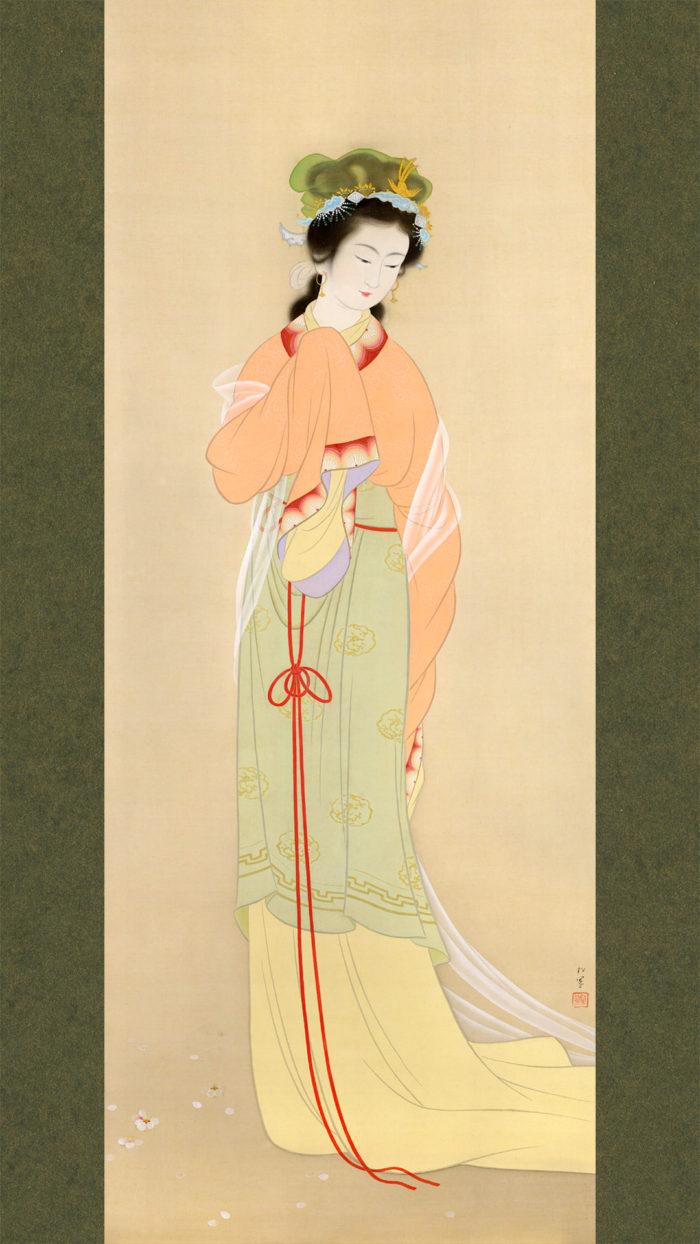 上村松園 春苑 Uemura shoen - Shun en 1080x1920