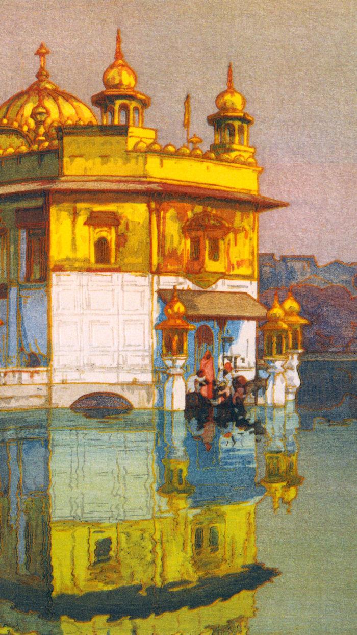 吉田博 アムリッサー Yoshida Hiroshi - Amritsar 1080x1920