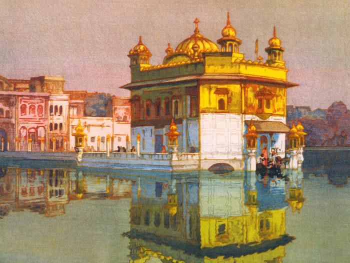 吉田博 アムリッサー Yoshida Hiroshi - Amritsar 2732x2048