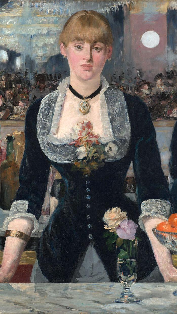 エドゥアール・マネ フォリー・ベルジェールのバー Edouard Manet - A Bar at the Folies Bergère 1080x1920