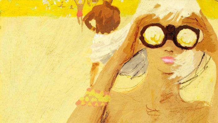 Bernie Fuchs - Girl with Binocular 1920x1080