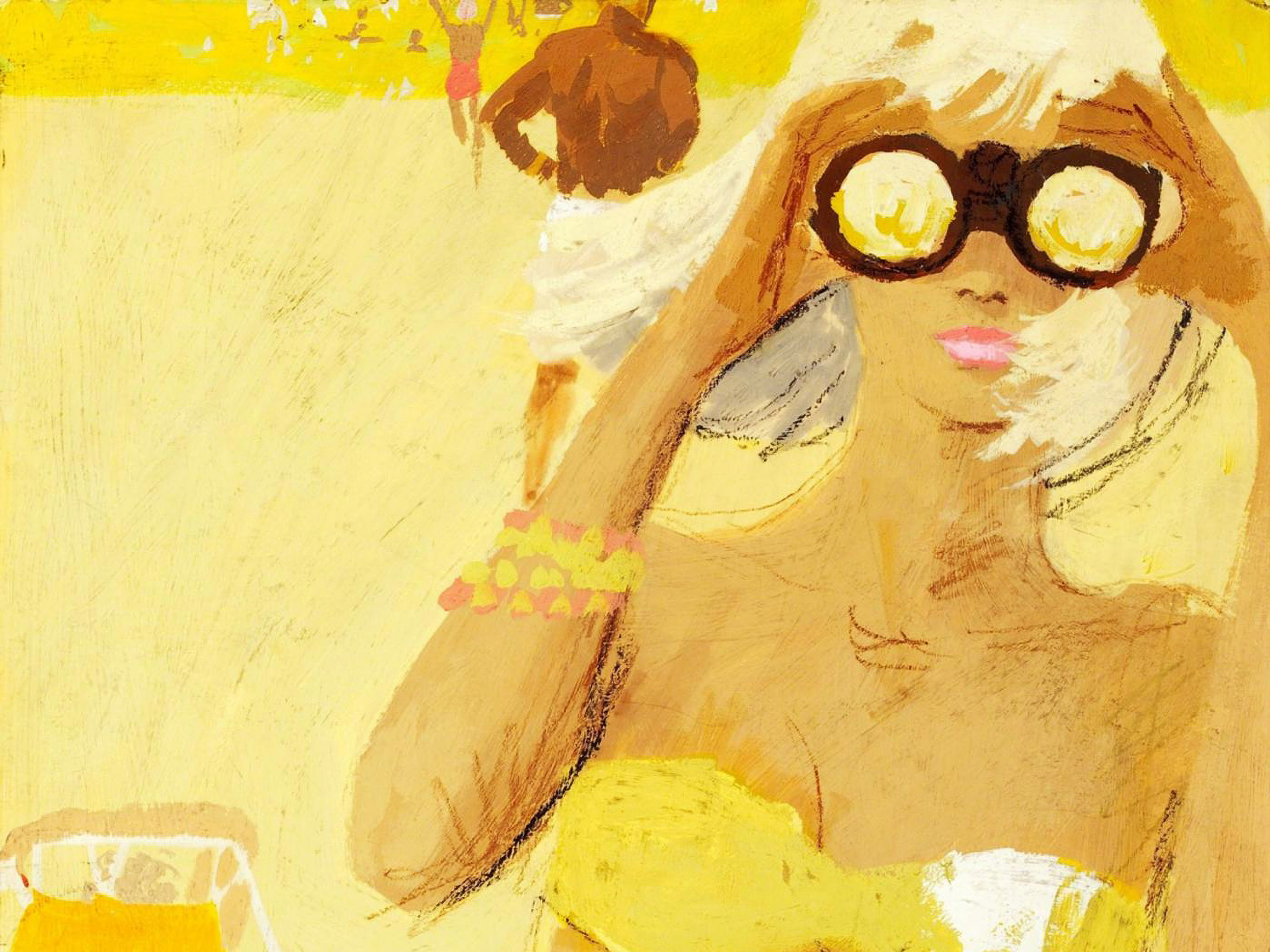 Bernie Fuchs - Girl with Binocular 2732x2048