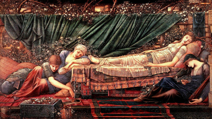 エドワード・バーン=ジョーンズ Edward Burne-Jones - The Rose Bower 1920x1080