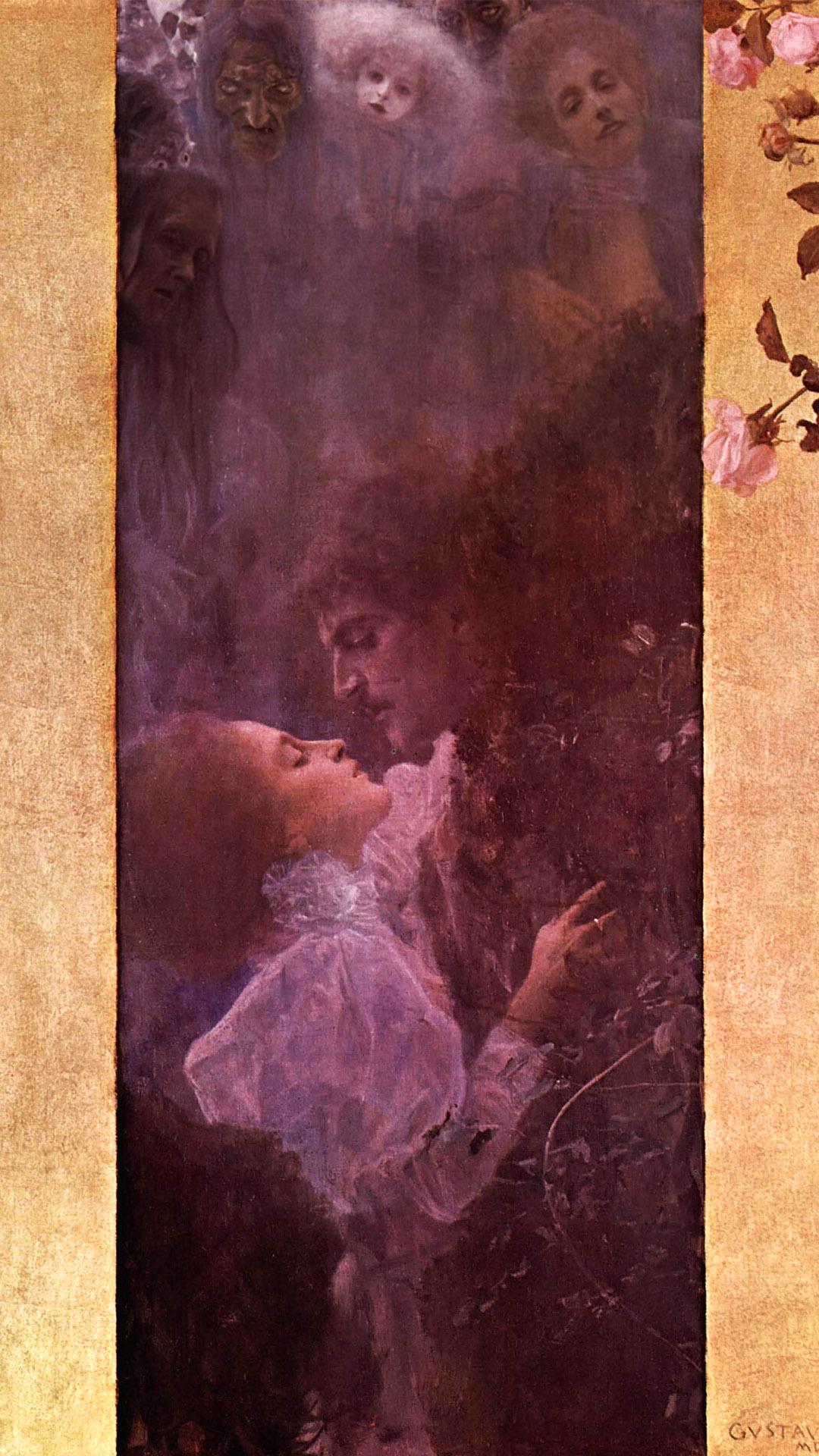 クリムト Gustav klimt - love 1080x1920 2
