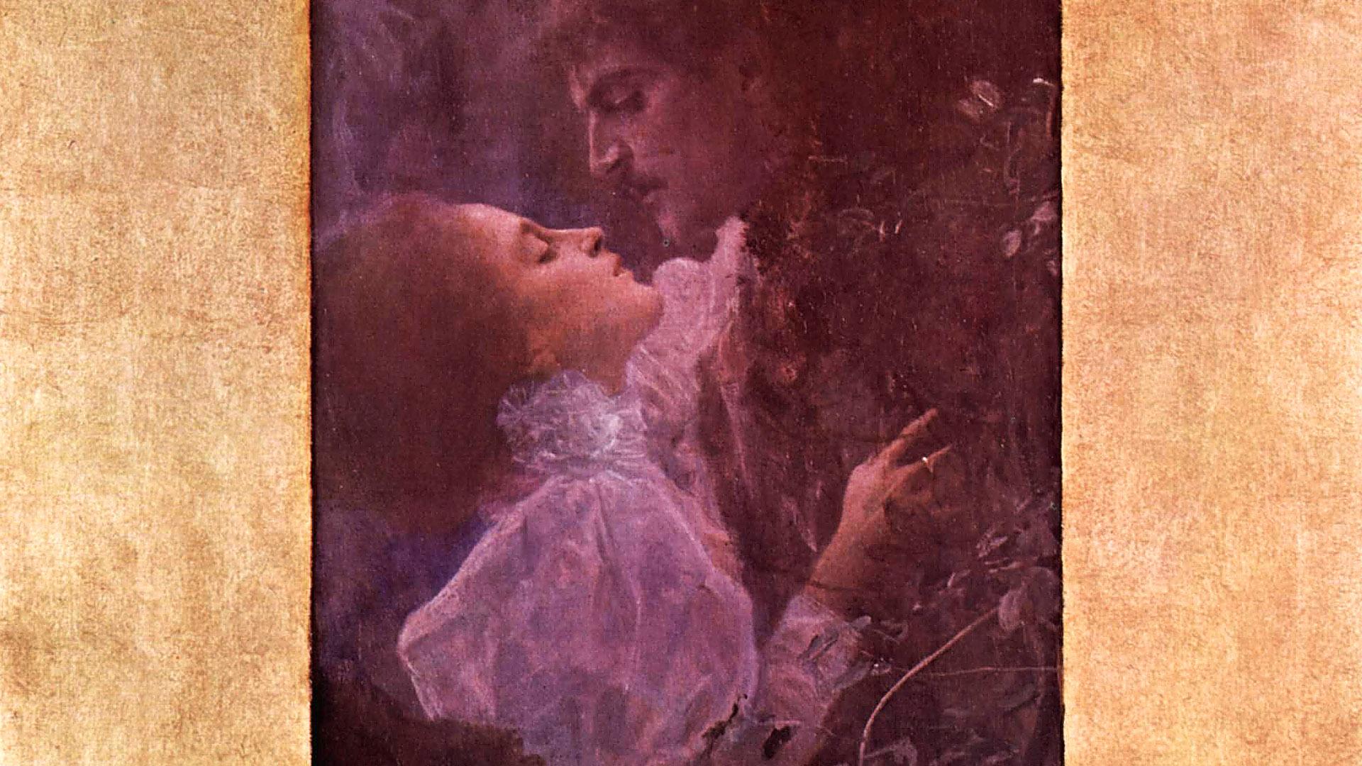 クリムト Gustav klimt - love 1920x1080