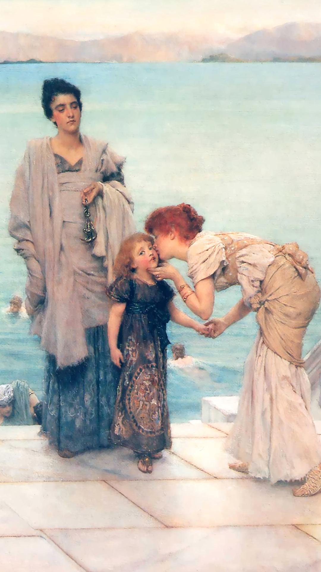 ローレンス・アルマ=タデマ Lawrence Alma-Tadema - A Kiss 1080x1920