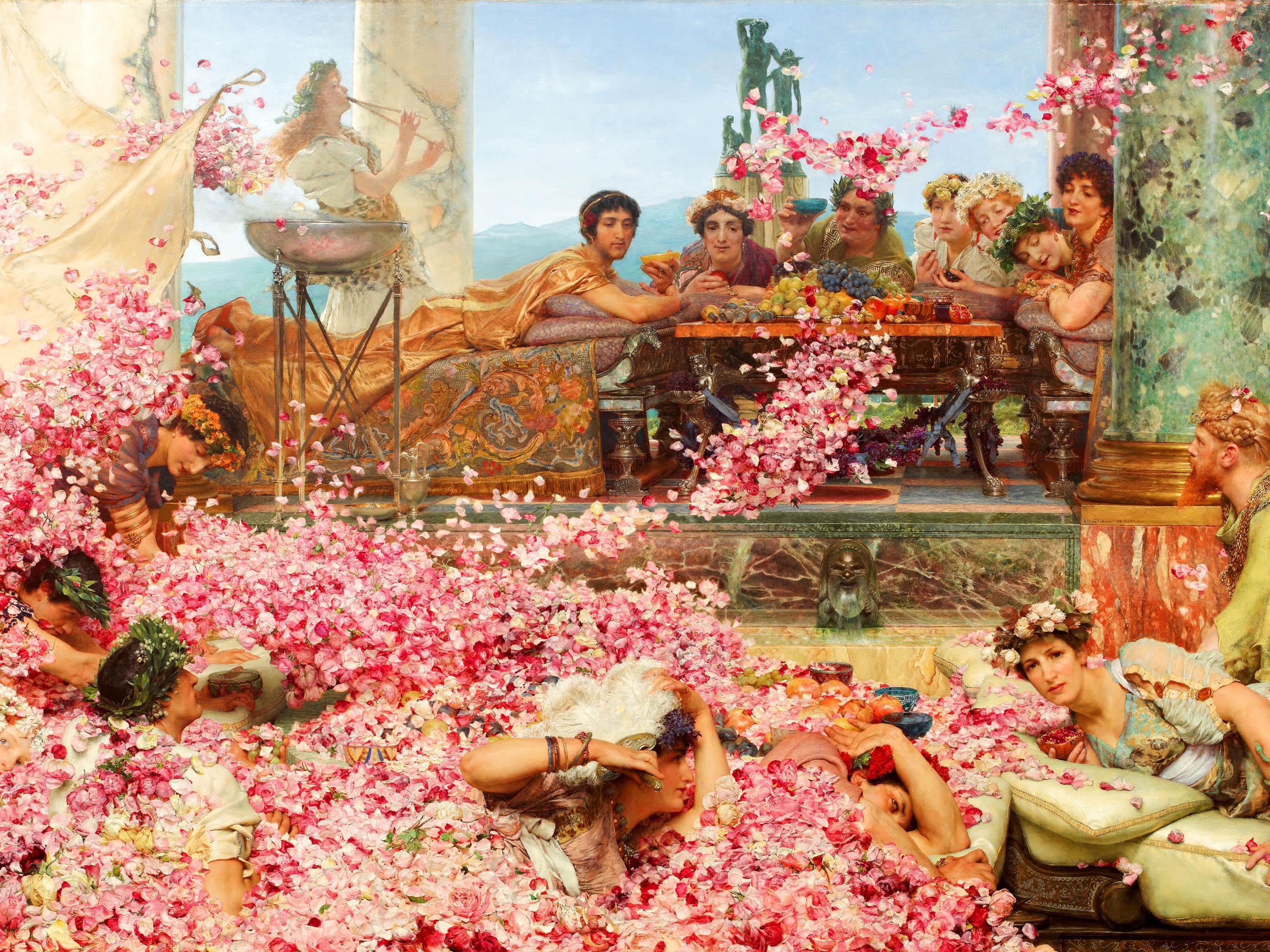 Lawrence Alma - Tadema The Roses of Heliogabalus 2732x2048