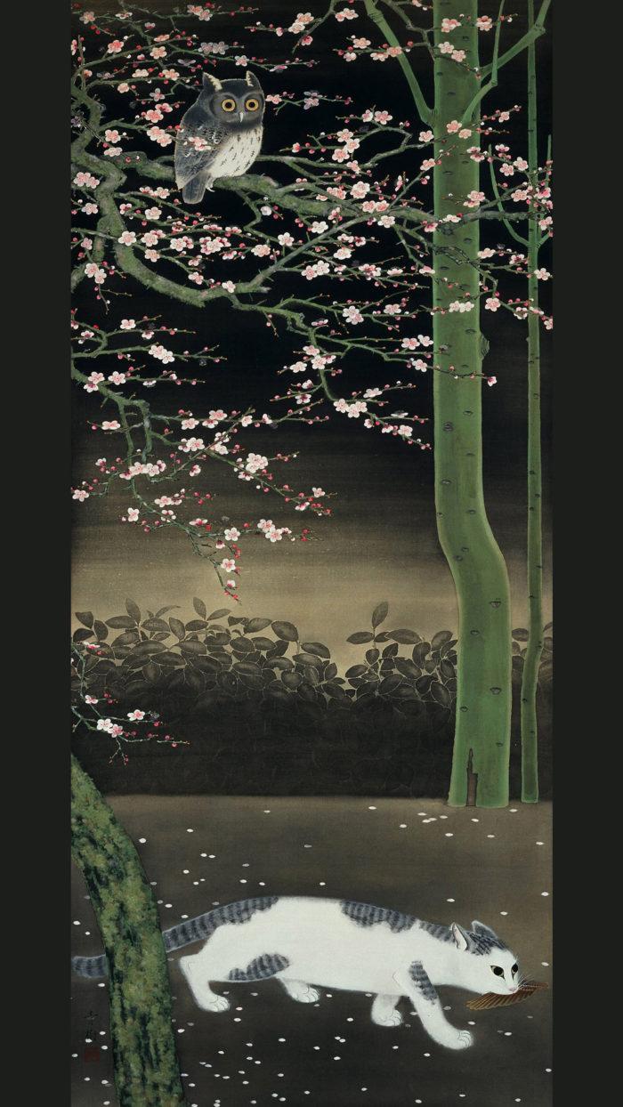 小茂田青樹 春の夜 Omoda seiju - Haru no yoru 1080x1920
