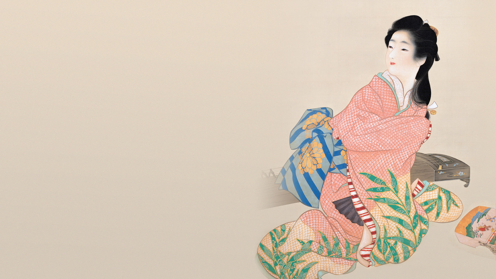 上村松園 娘深雪 Uemura shoen - Musume miyuki 1920x1080