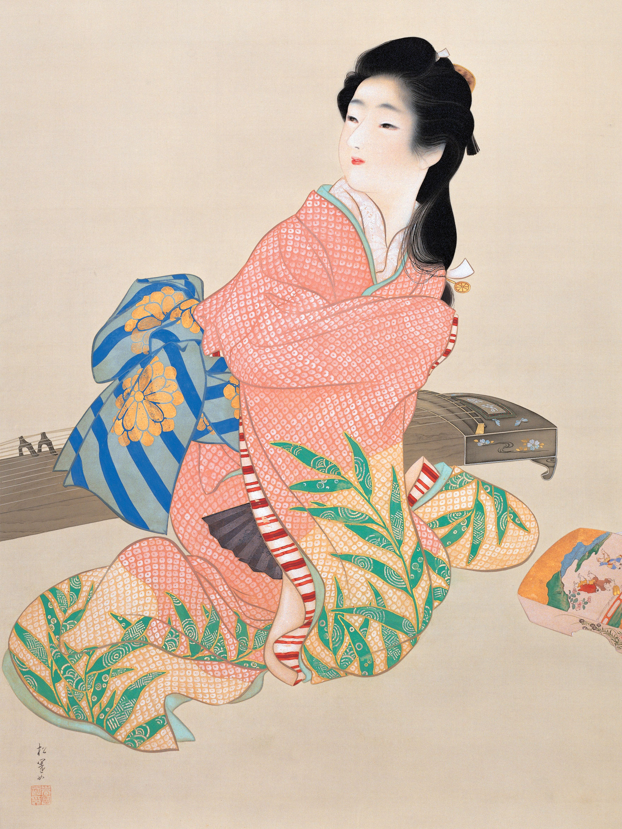 上村松園 娘深雪 Uemura shoen - Musume miyuki 2048x2732