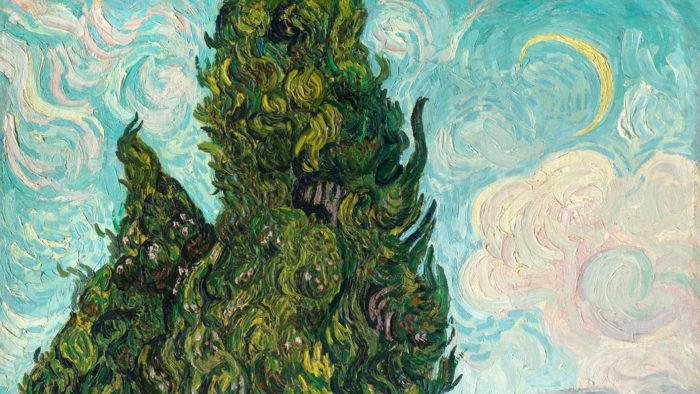Vincent van Gogh - Cypresses 1920x1080