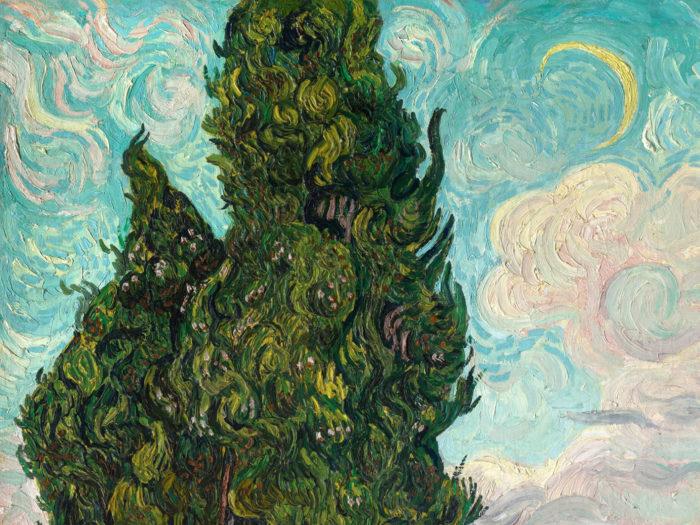 Vincent van Gogh - Cypresses 2732x2048