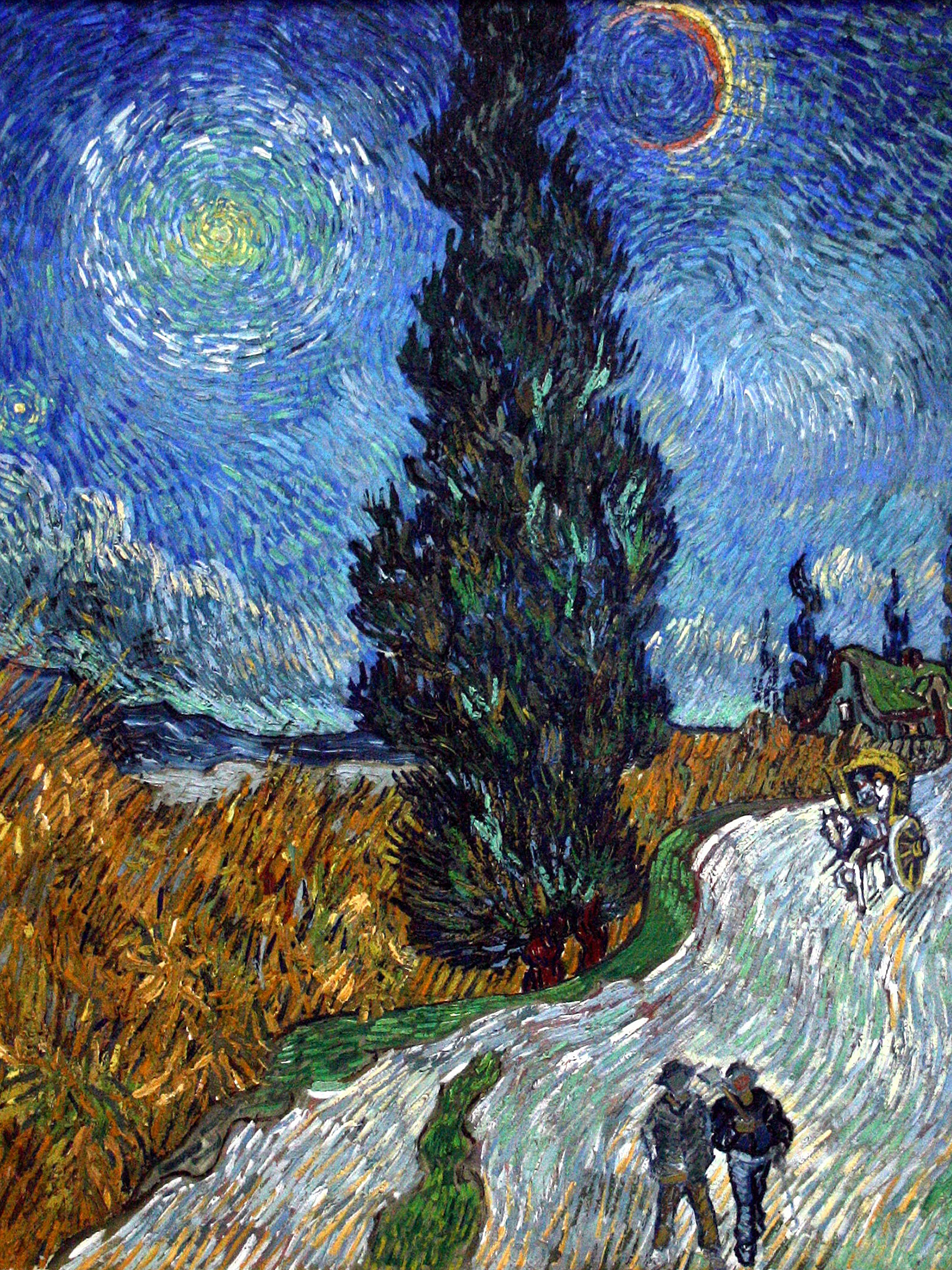 Vincent van Gogh - Road with Cypress and Star 2048x2732