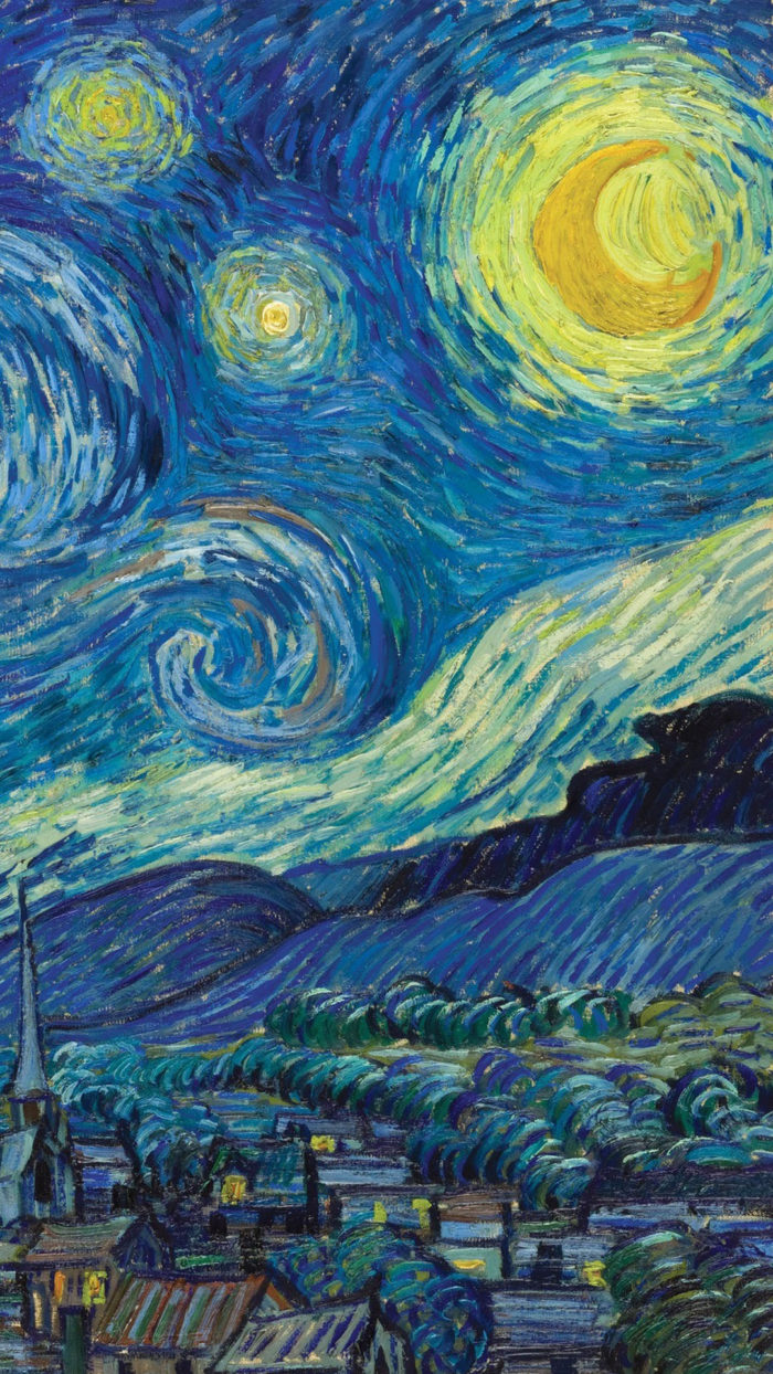 Vincent van Gogh - The Starry Night 1080x1920