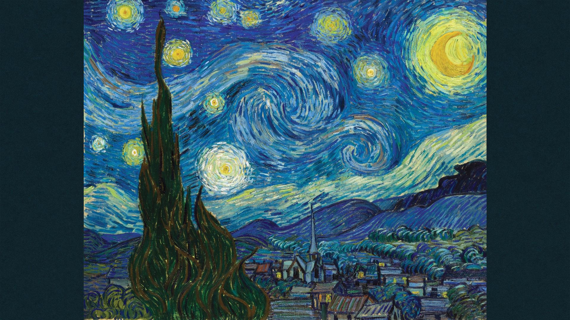 ゴッホ Vincent van Gogh - The Starry Night 1920x1080
