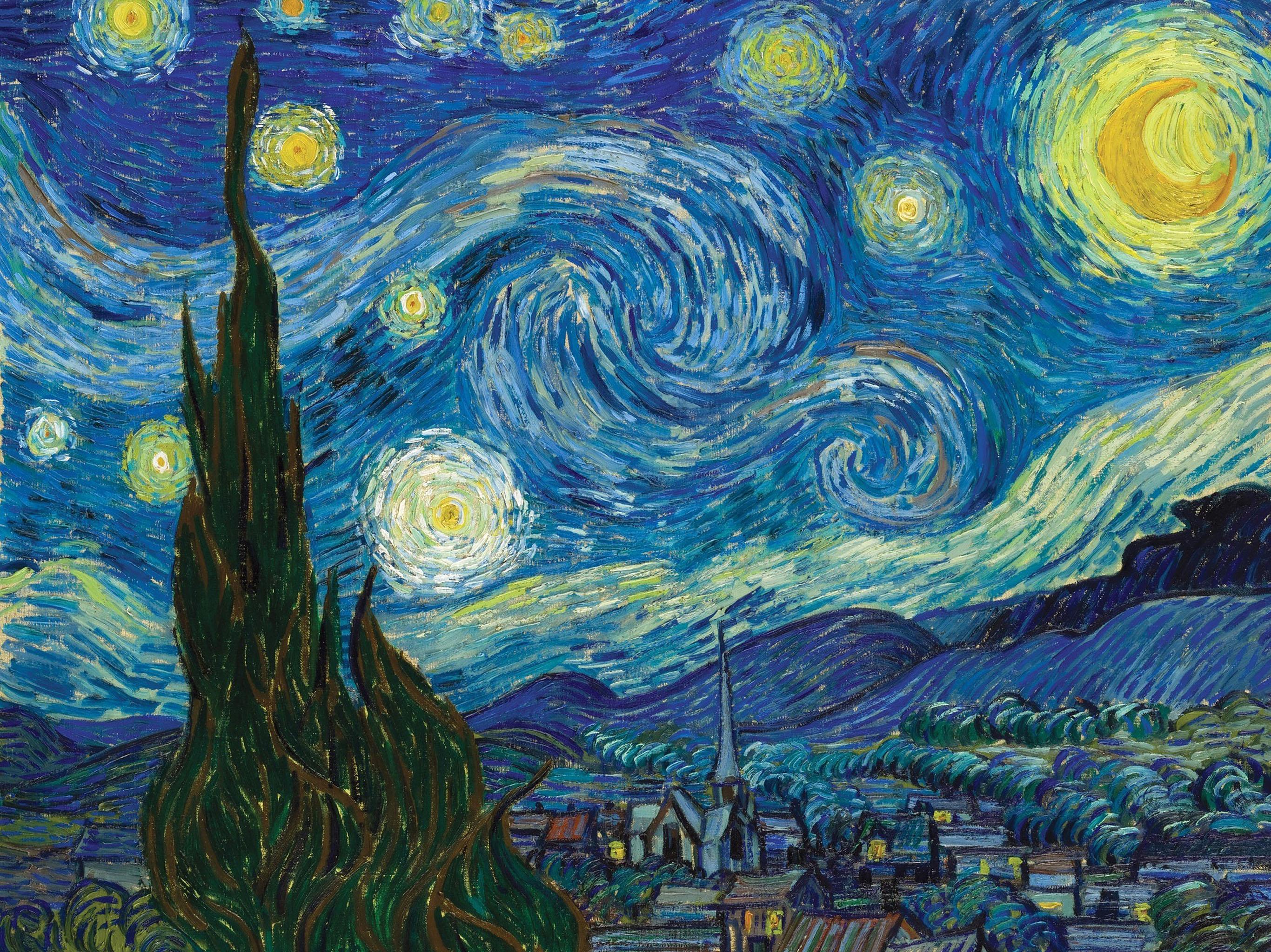 ゴッホ 星月夜 Vincent van Gogh - The Starry Night 2732x2048