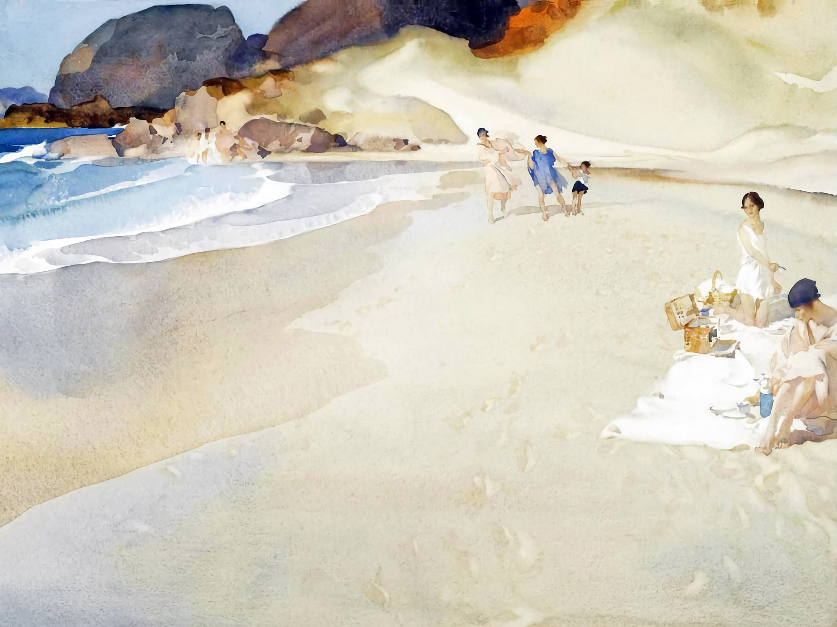 William Russell - Flint Picnic by the sea 2732x2048