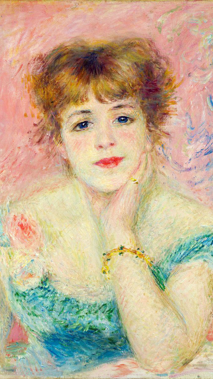 ルノワール renoir - Portrait of the actress Jeanne Samary 1080x1920