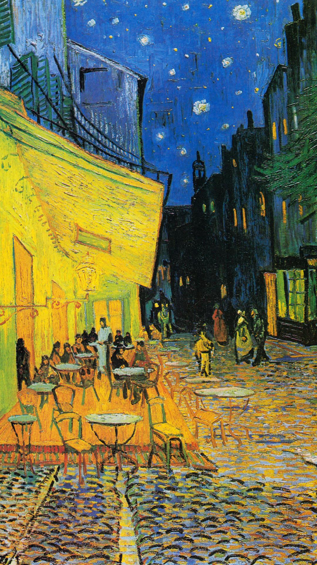 Vincent van Gogh – Cafe Terrace at Night 1080x1920