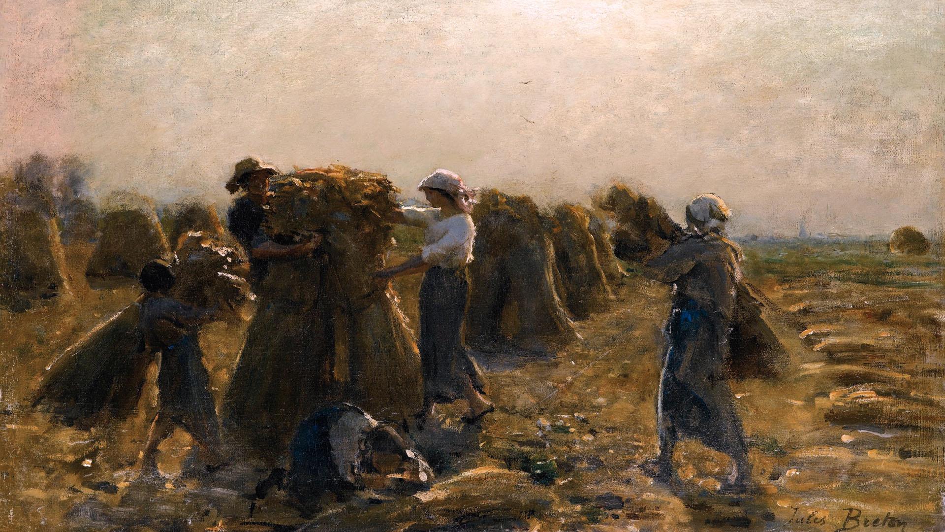 Jules Breton - LA RÉCOLTE 1920x1080