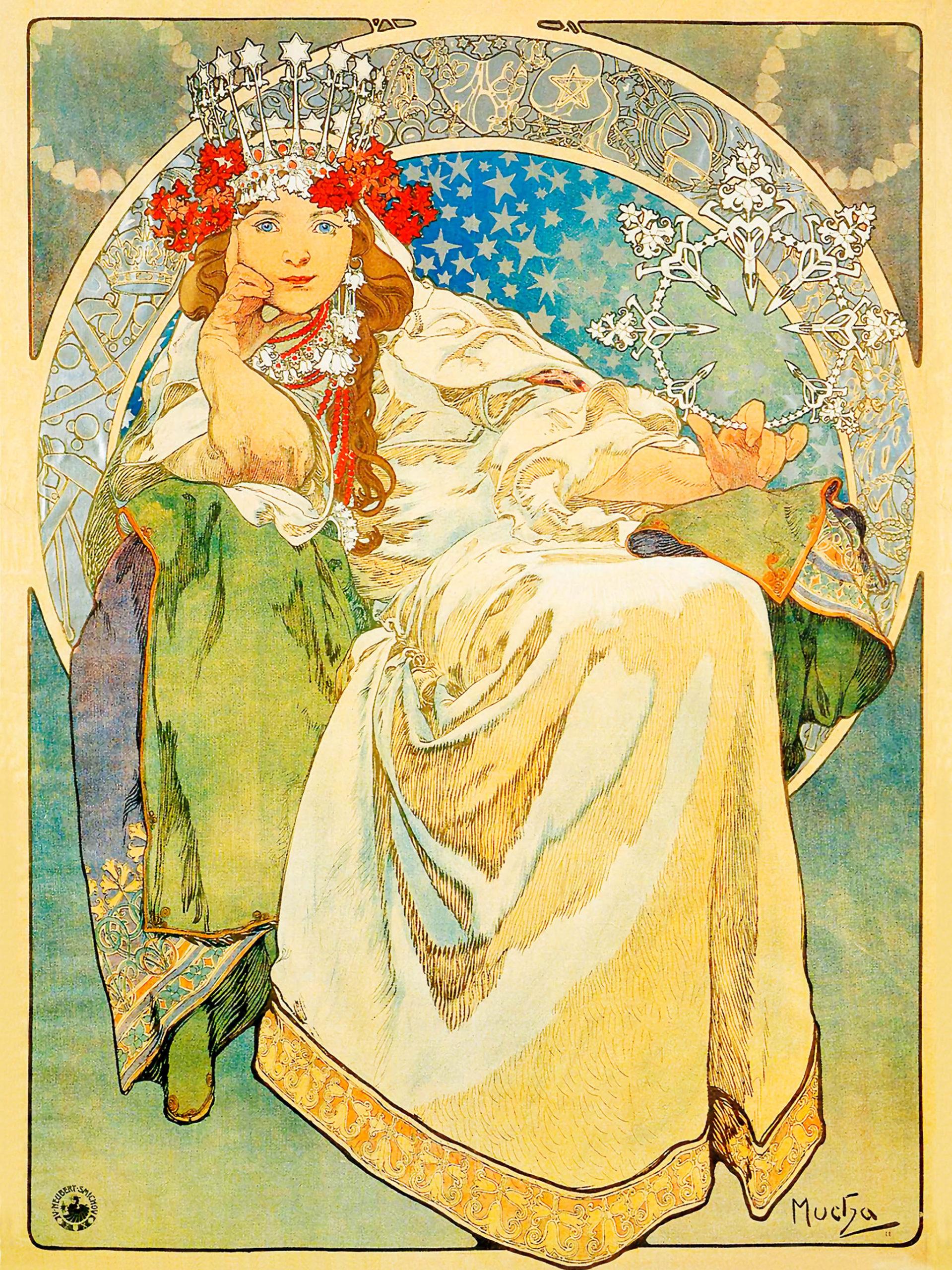 Alfons Maria Mucha - princess hyacinth 2048x2732