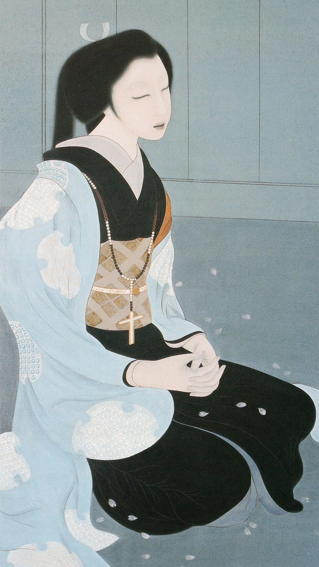 橋本明治 ガラシャ夫人像 Hashimoto Meiji Garasha fujin zou 1080x1920