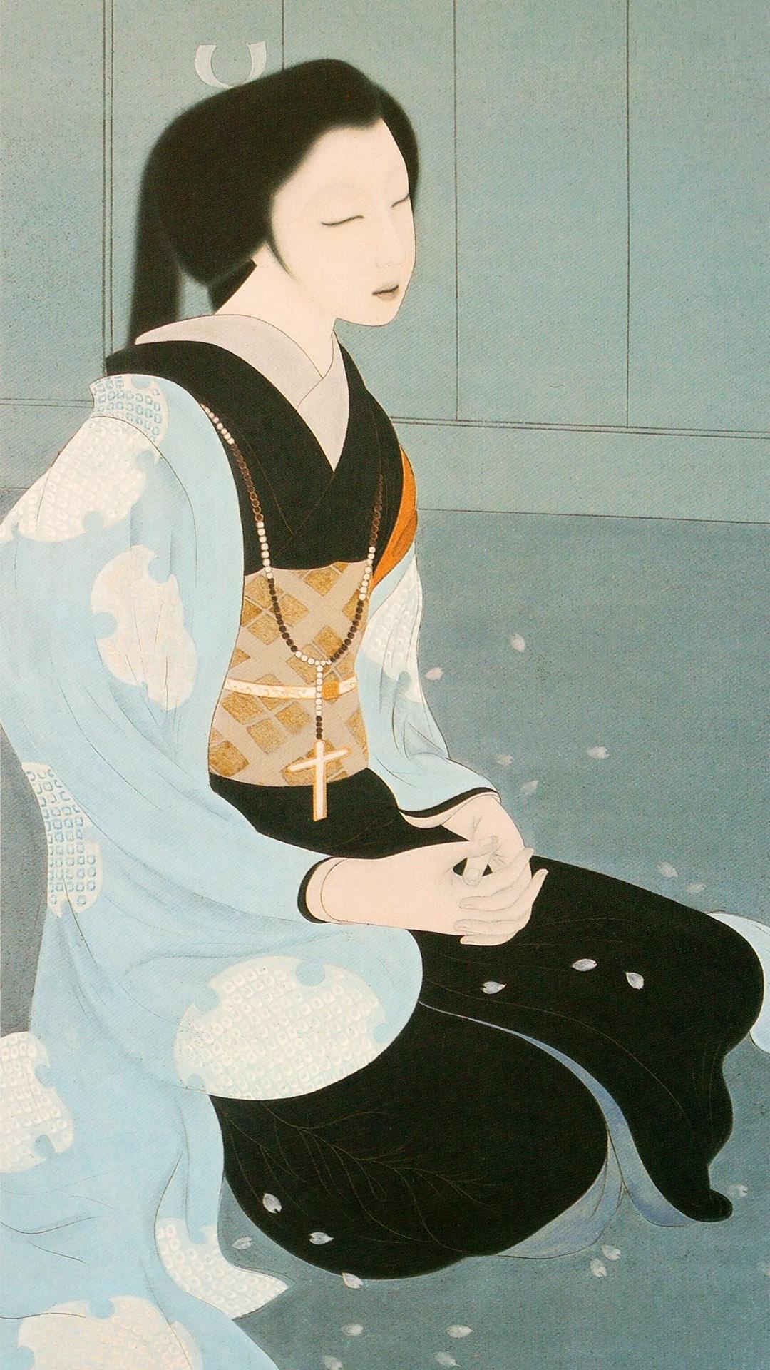 橋本明治 細川ガラシャ Hashimoto Meiji - Hosokawa garasha 1080x1920