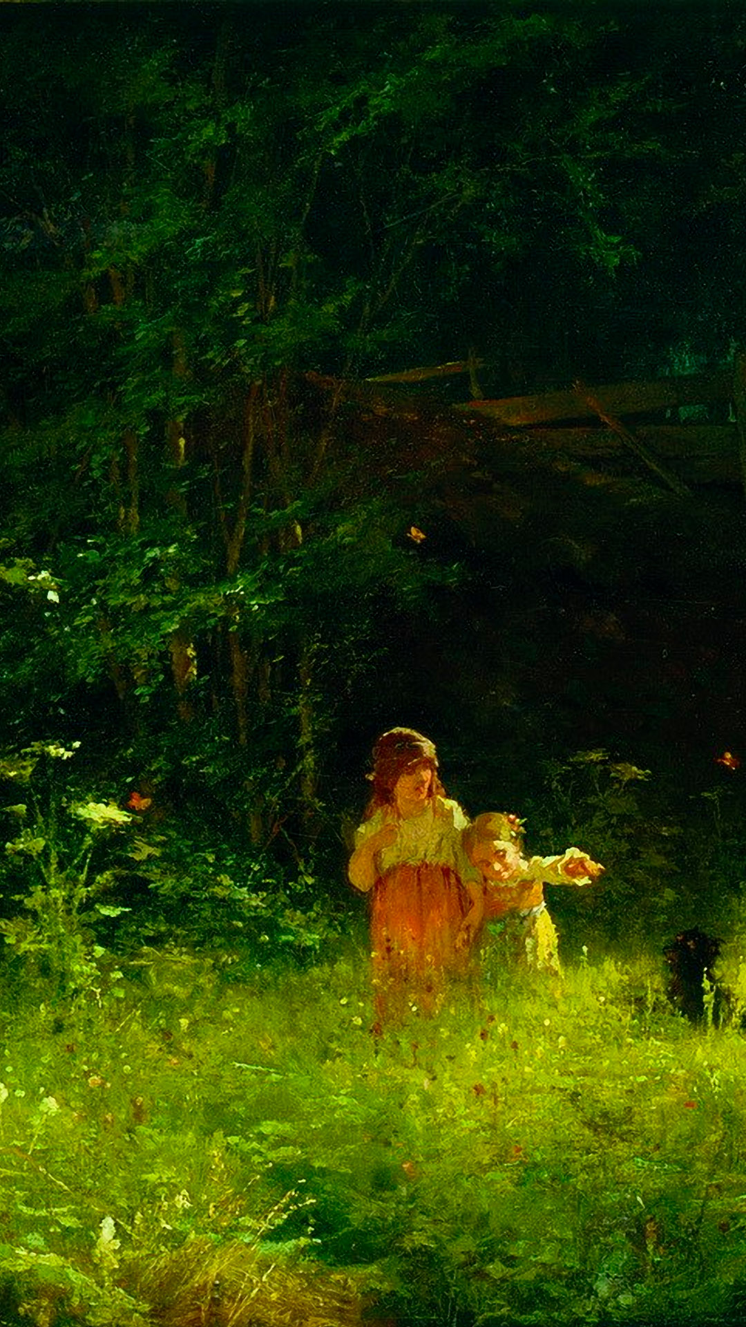 Ivan Kramskoy - Children in the woods 1080x1920