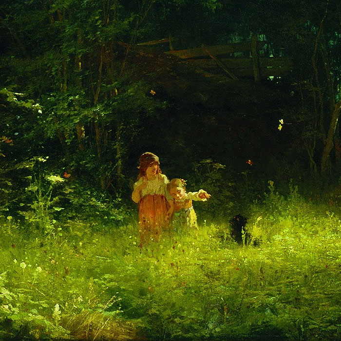 Ivan Kramskoy - Children in the woods d