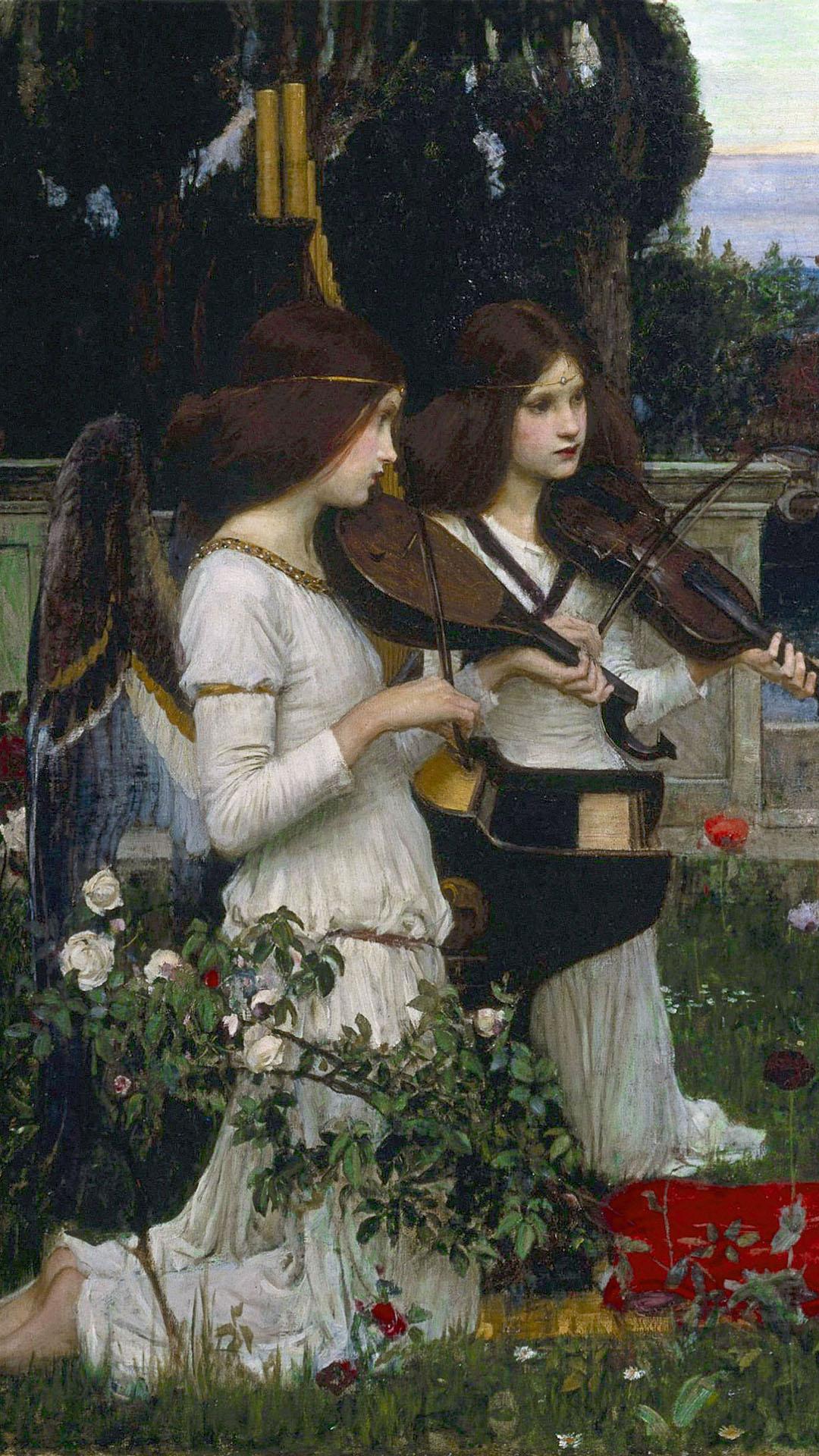 John William Waterhouse - Saint Cecilia 1080x1920