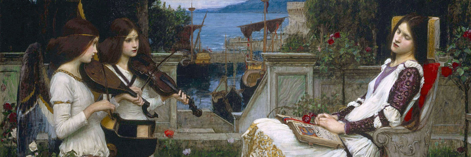 John William Waterhouse - Saint Cecilia 1500x500