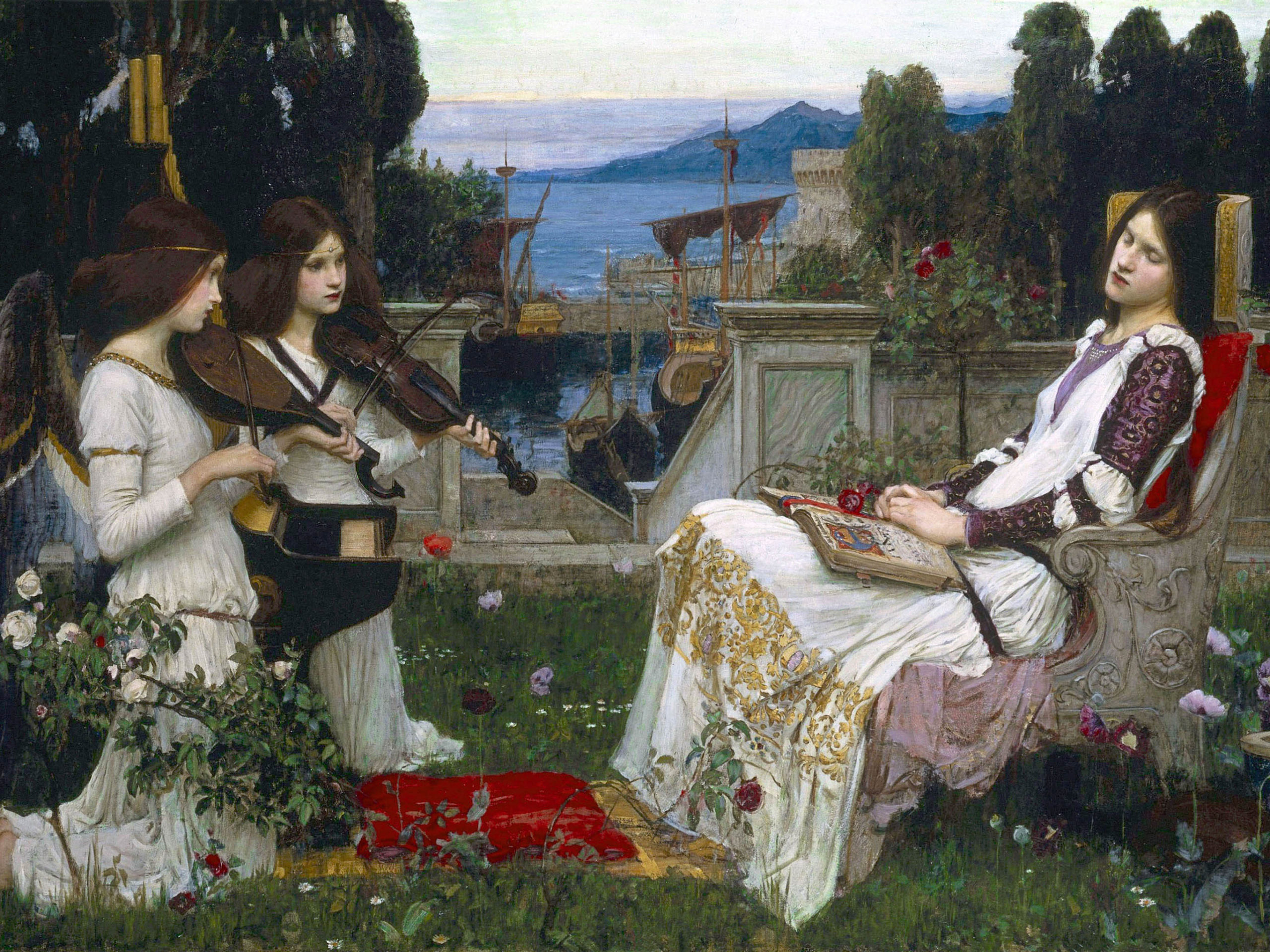 John William Waterhouse - Saint Cecilia 2732x2048
