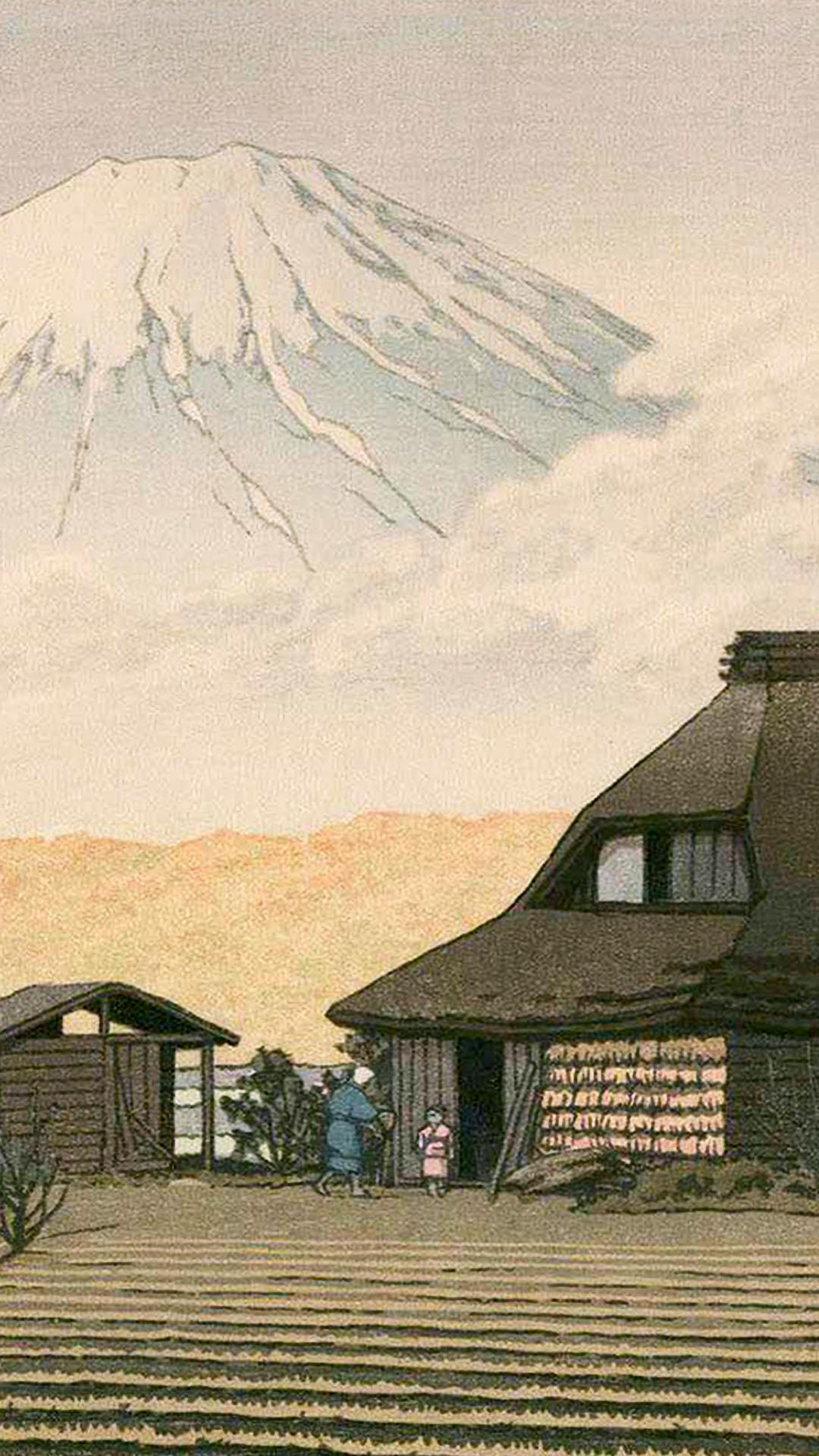 Kawase Hasui - Narusawa no fuji 1080x1920