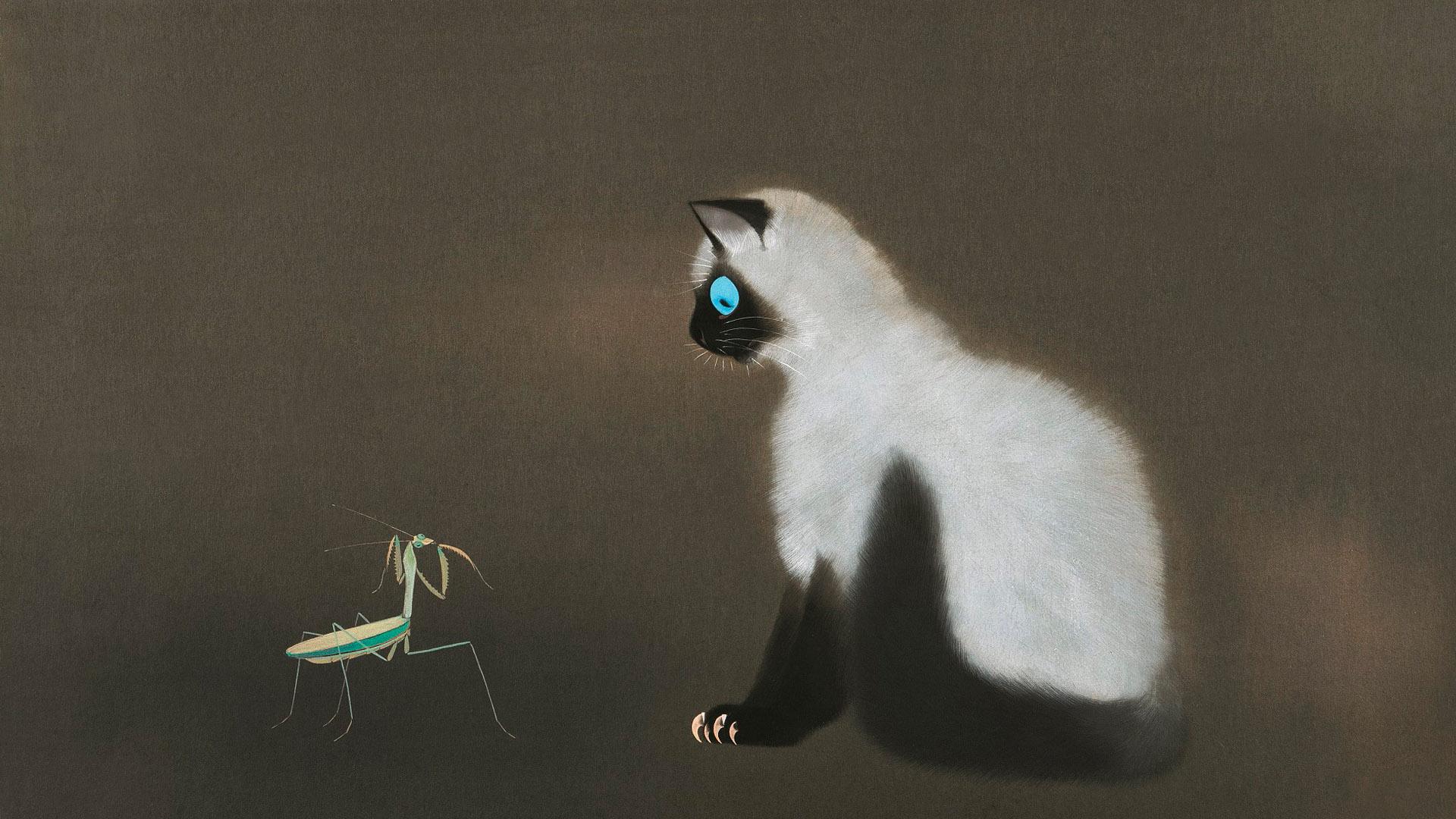 加山又造 猫 Kayama Matazo - Neko 1920x1080