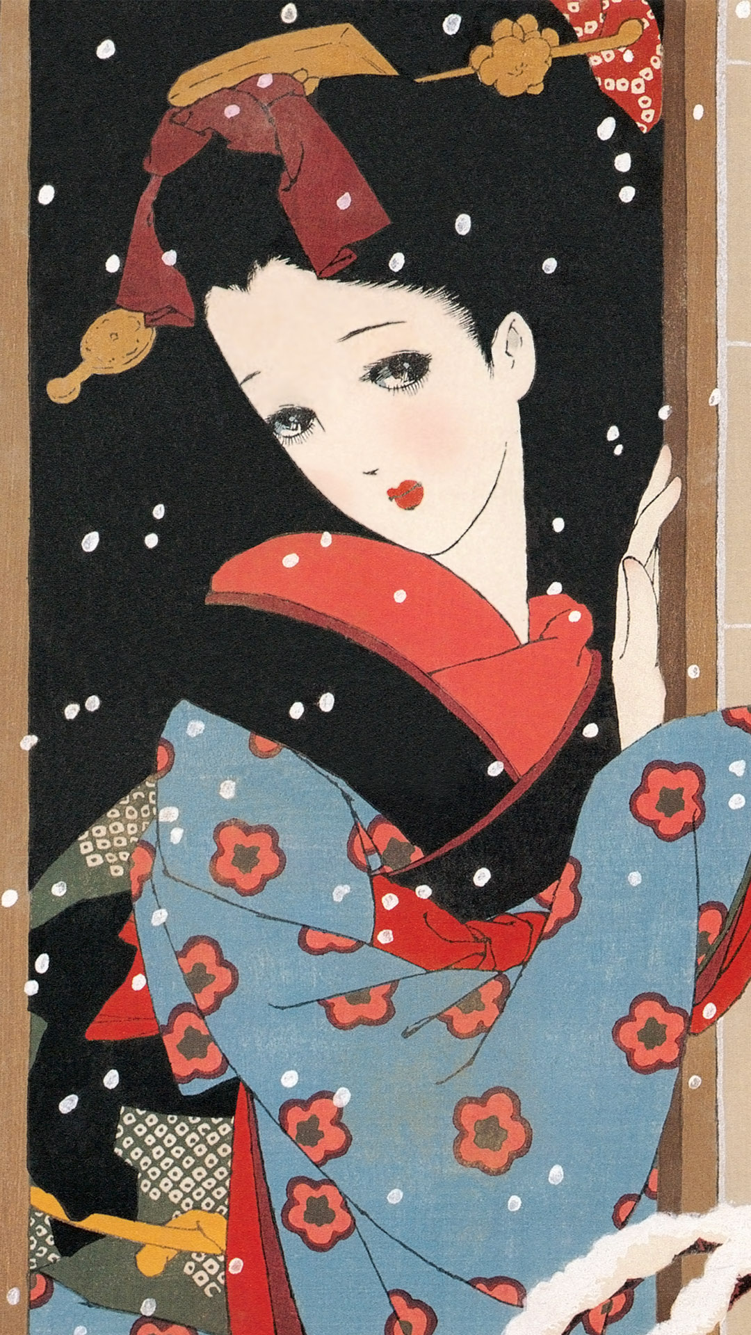中原淳一 雪 Nakahara Junichi - Musume 12 emaki 12 Yuki 1080x1920