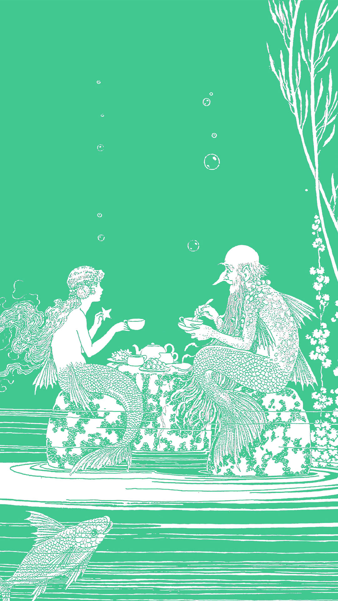 Ida Rentoul Outhwaite - The Merman's Glass House 1080x1920