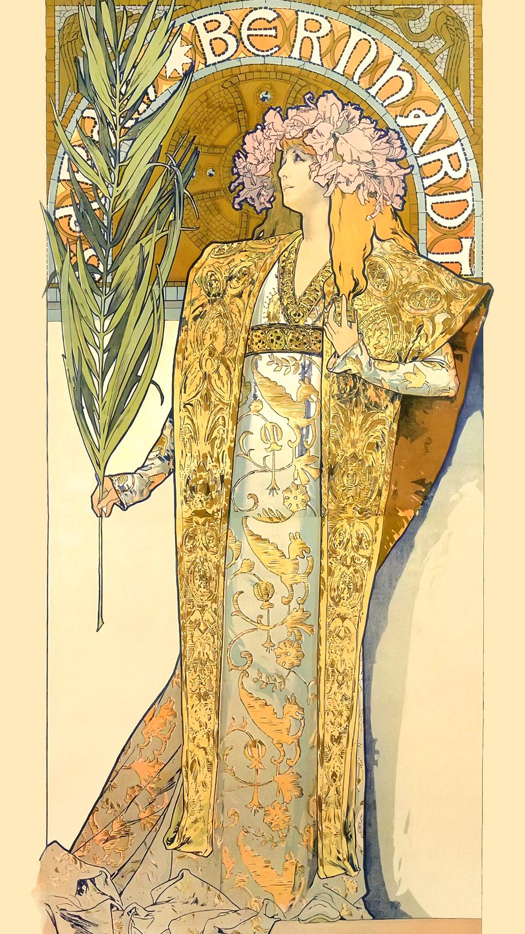 ミュシャ ジスモンダ Alfons Mucha – Gismonda 1080x1920