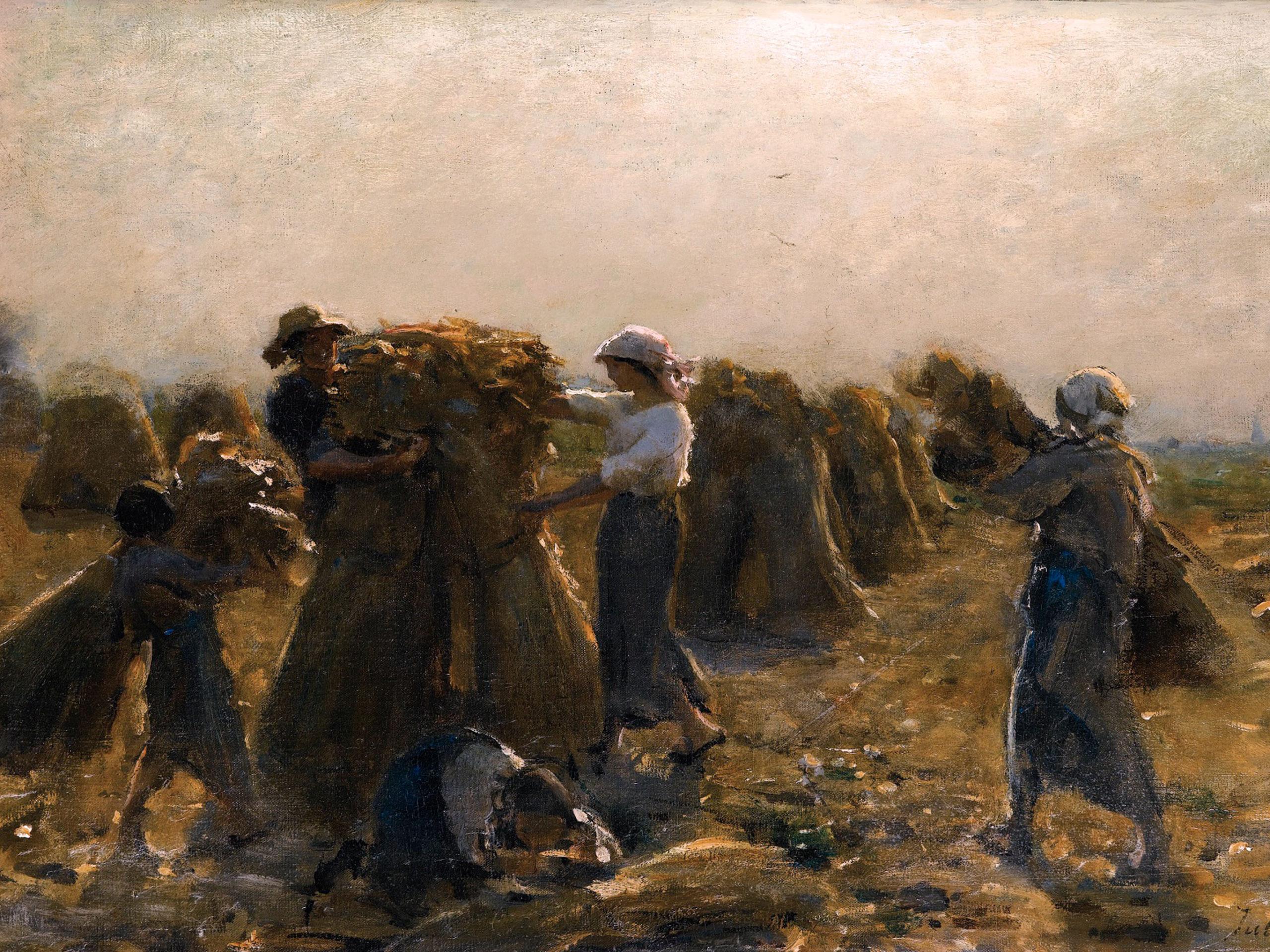Jules Breton - LA RÉCOLTE 2732x2048