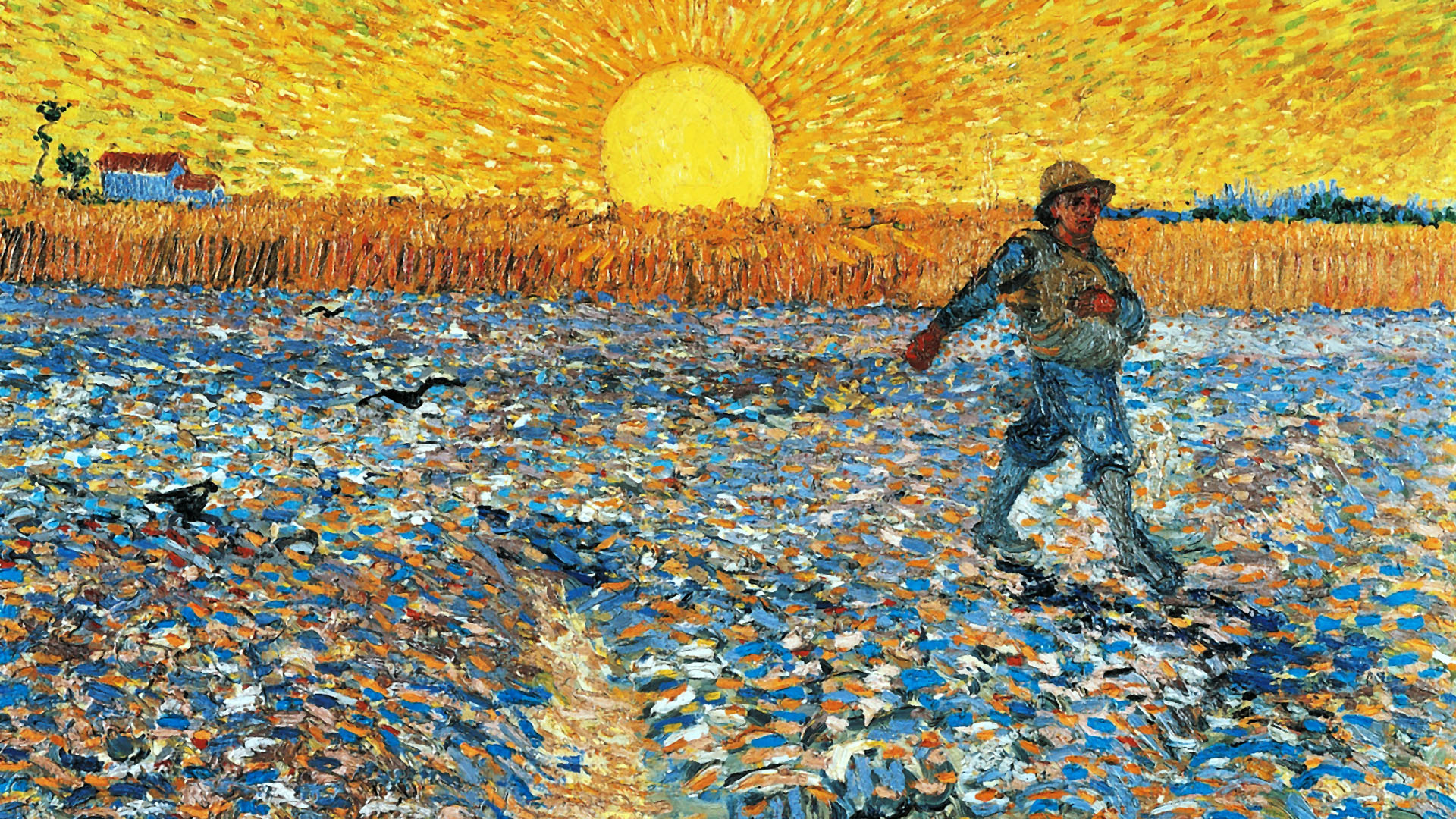 ゴッホ 種まく人 Vincent van Gogh – The Sower 1920x1080