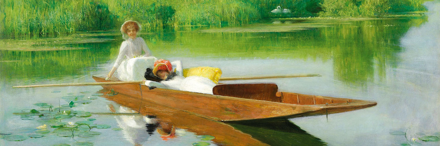 Arthur Hacker - Punting on the Thames 1500x500