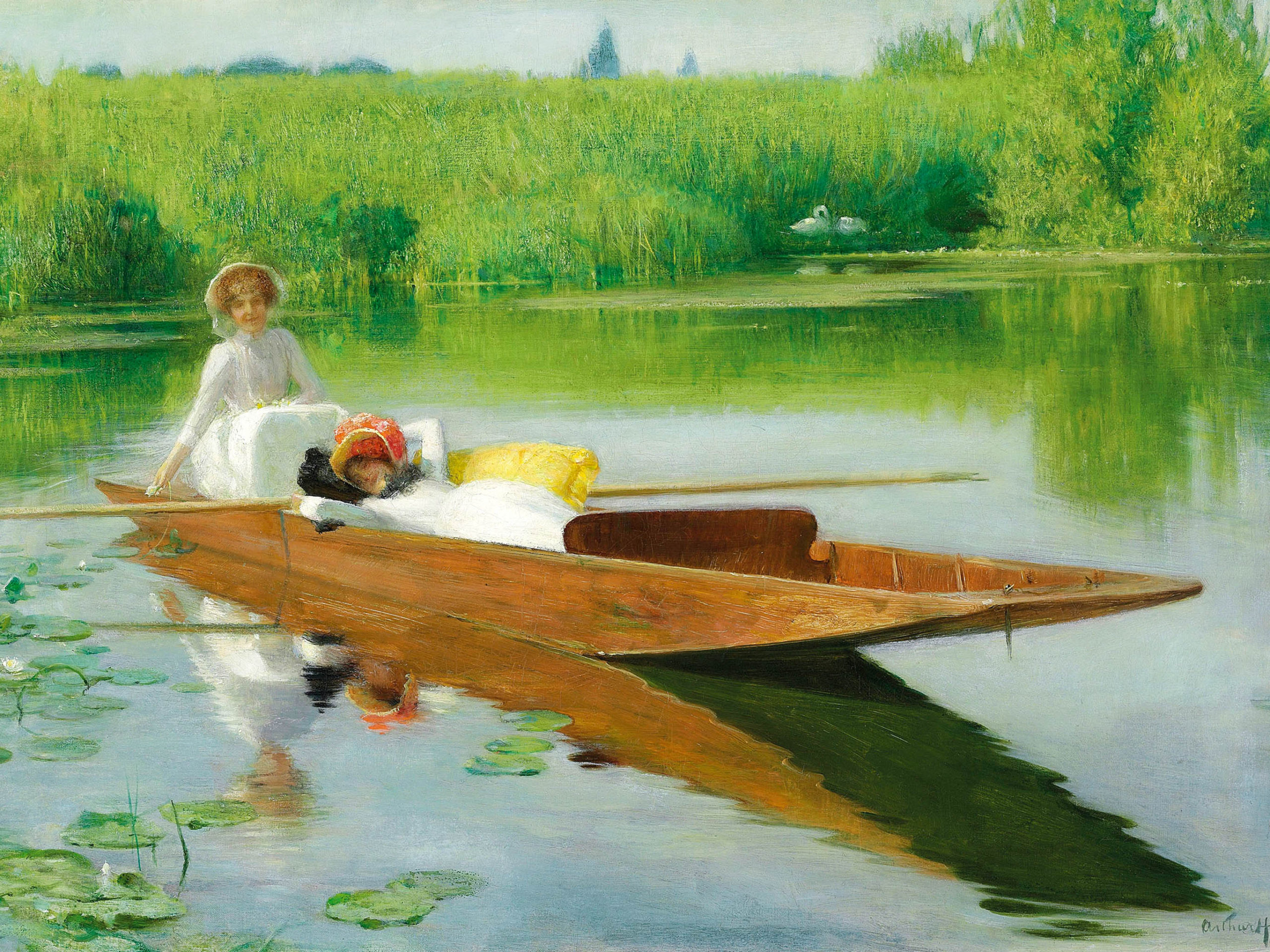 Arthur Hacker - Punting on the Thames 2732x2048